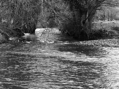 The Grwyne meets the Usk